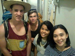 Mattes, Rhandal from New Zealand with Anne and Rizka